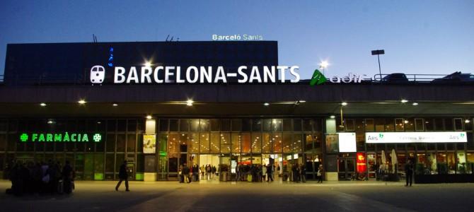 かっこいいバルセロナ・サンツ駅へ in スペイン
