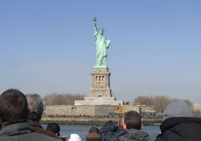 自由の女神を間近で見てきた in ニューヨーク