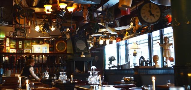 オスロのおすすめサーモンのレストラン at Cafe Sorgenfri