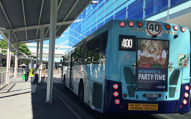 400番のバス
