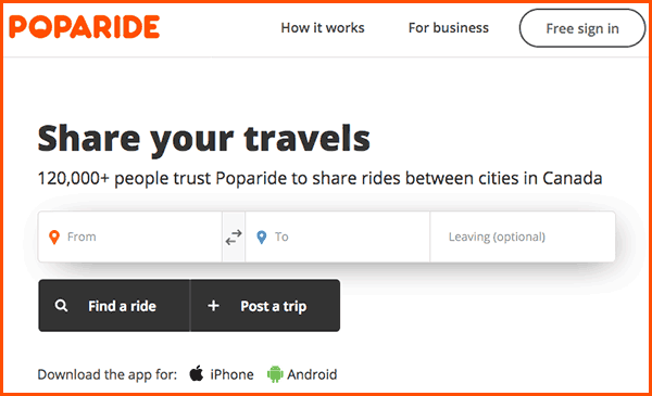 poparide homepage