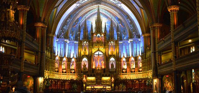 息を飲む美しさノートルダム大聖堂への行き方と思い出 in モントリオール